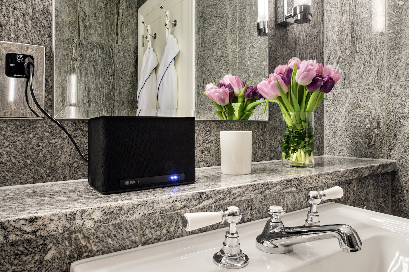 Raumfeld wireless speakers at the Terrace Suite at the Ham Yard Hotel, London. W1D 7DT. 20 February 2015